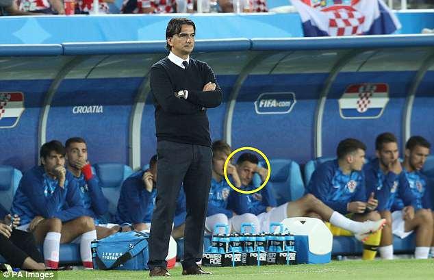 Kalinic on bench